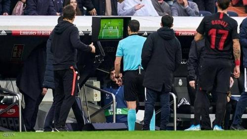"""""""فضيحة تحكيمية"""" في ملعب ريال مدريد.. ولوبيتيغي يعلق"""