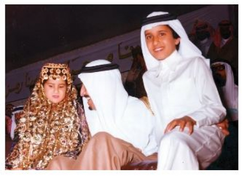 ظهور نادي للملك سلمان مع ابنته الوحيدة الاميرة حصة
