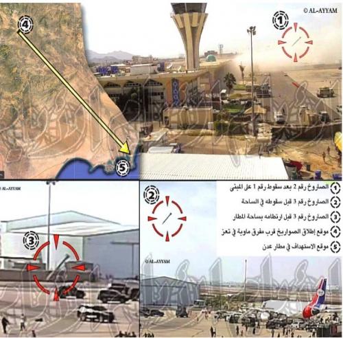 الايام تكشف  مصدر انطلاق الصواريخ على مطار عدن