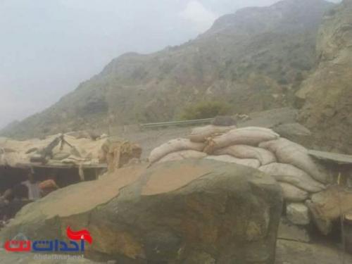 الحوثي يهاجم ابين بالدبابات .. صورة