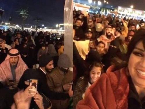 ضجة في السعودية بسبب مقاطع صادمة للفنانة فيفي عبده في شوارع الرياض ( شاهد الفيديو )