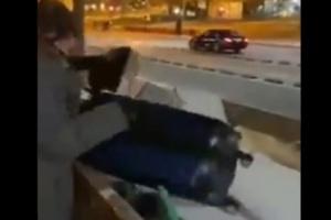 شاهد بالفيديو.. لصوص يسرقون حقائب مغترب يمني في بريطانيا...وعند فتحها كانت المفاجأة!