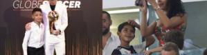 """بالفيديو.. نجل كريستيانو رونالدو يقتحم عالم """"السوشال ميديا"""" بـ 4 لغات وأرقام متسارعة"""
