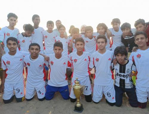 فريق الشدادي يحرز كأس 11 فبراير امام الفرسان