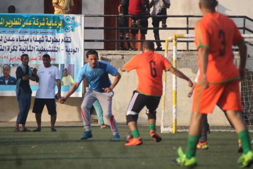 موانئ خليج عدن وجامعة عدن يتأهلان للدور الثاني في بطولة شهداء ميناء الحاويات الخماسية