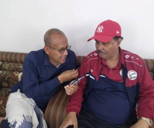 مدرب منتخبنا الوطني لكرة القدم الكابتن سامي نعاش يتحدث للجماهير الرياضية والصحافة والاعلام