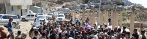 بدعم من الأهالي تدشين المرحلة الثانية من مشروع طريق اليزيدي - جبل لمطور- رباط السنيدي