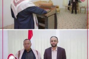شاهد صورة : خائن حجور..يؤدي اليمين الدستوري أمام مهدي المشاط