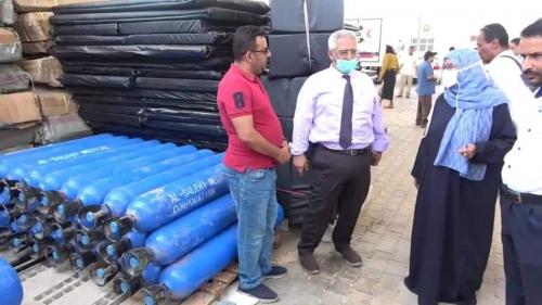 شاهد الصور:   وزارة الصحة تبدأ بتجهيز مستشفى كورونا المؤقت بعدن