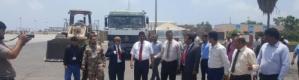 وزير النقل يدشن مشروع إعادة تأهيل ممر تدحرج الطائرات بمطار عدن الدولي