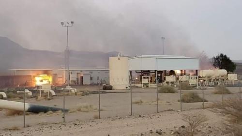 شركة صافر تكشف حجم الضرر الهائل جراء قصف الحوثيين لمحطة ضخ النفط في كوفل