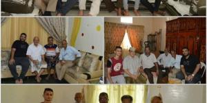 ادارة نادي شمسان بعدن  تزور اربعة رؤساء سابقين للنادي