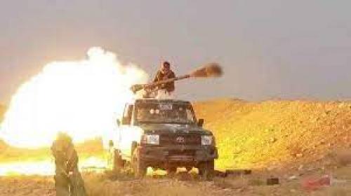 شاهد ..  بالفيديو.. مشاهد نوعية لعمليات استهداف دقيقة والسنت النيران تلتهم عربات وأطقم الحوثيين غرب مأرب
