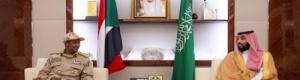 ولي عهد السعودية يلتقي نائب رئيس المجلس الانتقالي