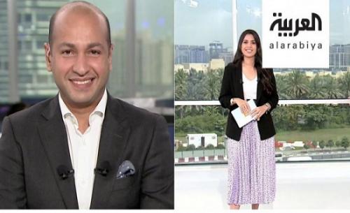 شاهد ..مذيع سعودي في قناة العربية يتغزل بزوجته على الهواء(فيديو)