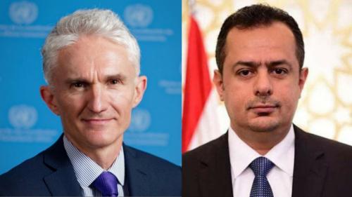 رئيس الوزراء يناقش مع وكيل الأمم المتحدة للشؤون الإنسانية تحضيرات مؤتمر المانحين لليمن 2020
