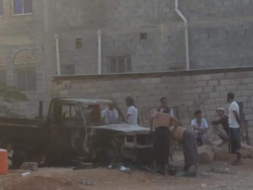 شاهد .. صور اولية للدمار في عاصمة شبوة صباح اليوم