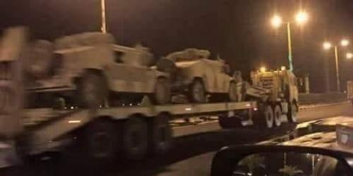 مصدر عسكري يوضح بخصوص مدرعات تابعة للتحالف وصلت عدن