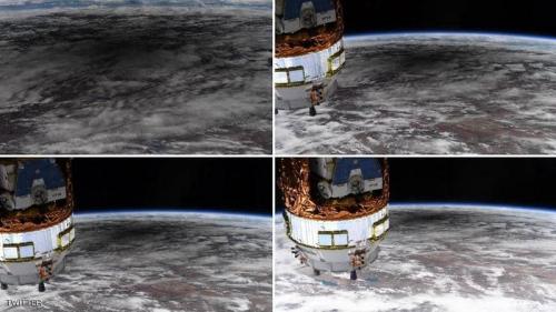"""من الفضاء هذه المرة.. """"لقطات مبهرة"""" للكسوف الشمسي"""