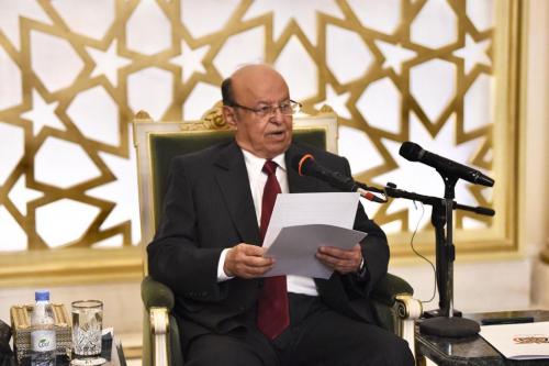 الرئيس هادي يعلن اسم رئس الحكومة الجديد بعد تنفيذ اتفاق الرياض