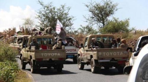 مليشيا الحوثي تدفع بتعزيزات بشرية من ذمار نحو جبهات الضالع