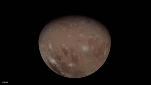 """""""ناسا"""" تنشر صورا مذهلة لأكبر أقمار المشتري"""