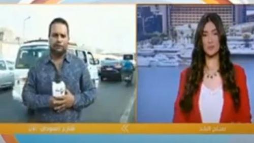 """""""شاهد""""... مذيع مصري يتعرض لحادث سير على الهواء مباشرة"""