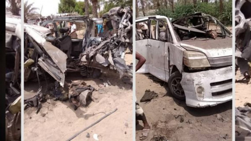 كانوا بطريقهم لحفل زفاف.. 14 مدنياً ضحايا لغم حوثي (صورة)