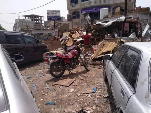 قوات المجلس الانتقالي الجنوبي تزيل اسواق القات في عدن