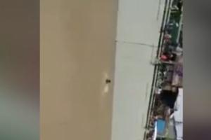 مشهد يدمي القلب...شاب يقضي غرقاً أمام أعين وعدسات المصورين في صنعاء (فيديو)