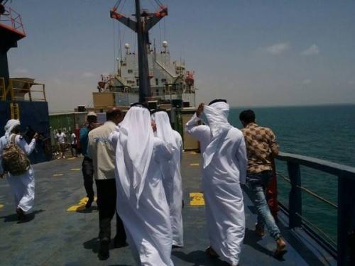 وصول 30 حاوية إماراتية إلى ميناء الزيت مجهولة المحتوى