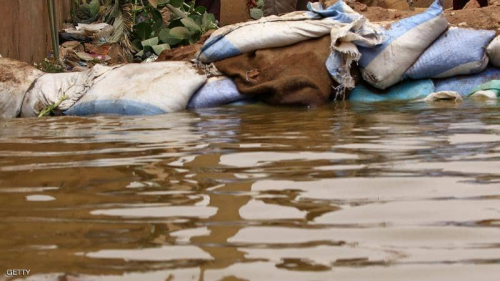 """النيل """"الغاضب"""" يترك آلاف الأسر السودانية بلا مأوى"""