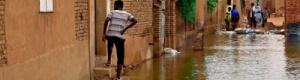 مياه الفيضانات تجتاح منزل رئيس الوزراء السوداني
