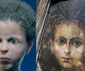 العلماء ينجحون بإعادة بناء وجه مومياء طفل مصري بدقة