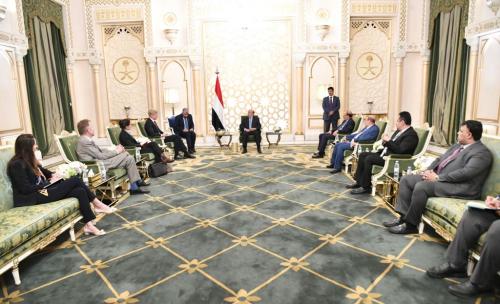 رئيس الجمهورية يستقبل المبعوث الأممي الى اليمن