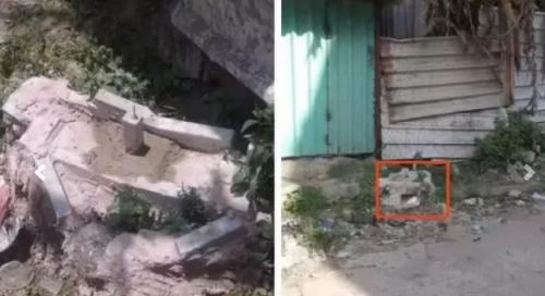 شاهد ..  مواطن في اب يقبر طفلته امام منزله والسبب محزن