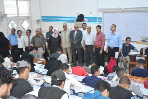 جامعة عدن تدشن إمتحانات القبول بكلية الطب والعلوم الصحية