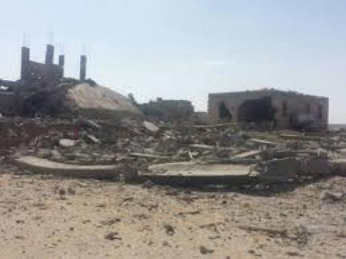 مليشيا الحوثي تفجر ٣ منازل لمواطنين في البيضاء