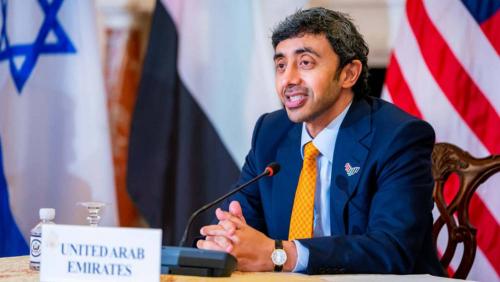 وزير خارجية الامارات: نعمل بجد وكد لإنهاء الأزمة اليمنية ولانريد حزب الله جديد على حدود السعودية
