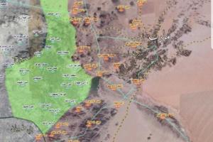 """الكشف عن المديريات الخاضعة بالكامل لسيطرة الحوثيين والمساحة الجغرافية التي تسيطر عليها الشرعية بمأرب""""خريطة"""""""