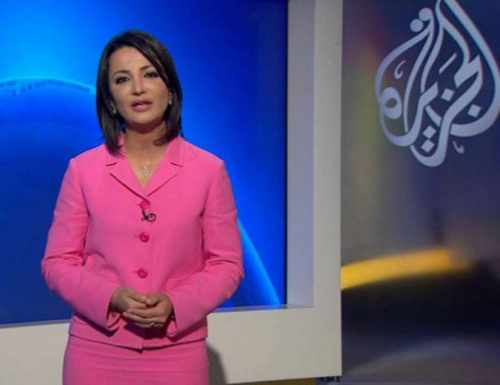 """مذيعه قناة الجزيرة تهاجم """"جورج قرداحي """"بسبب دفاعه عن الحوثيين"""