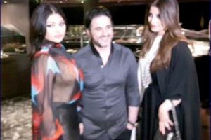 """شاهد .. """"ابنة"""" الرئيس اليمني مع الفنانة اللبنانية """"هيفاء وهبي"""""""