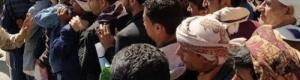 كيف يتزاحمون في صنعاء من اجل مغادرة اليمن
