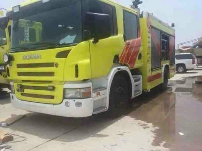 شاهد .. الصورة سيارت الدفاع المدني الجديدة في عدن