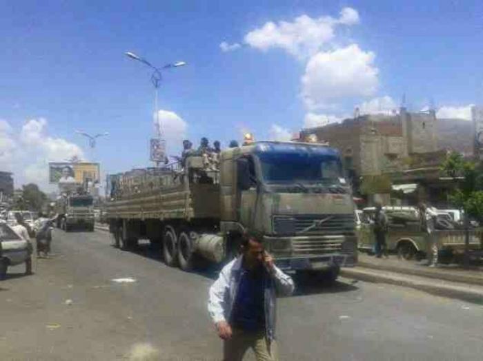 الحوثي يدفع بكتايب الجديدة الى اب