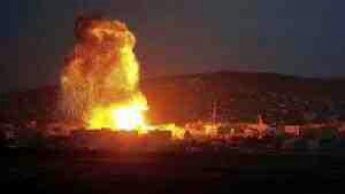 عاجل : قصف معسكر الحمزة بنجد الجماعي اب- صورة