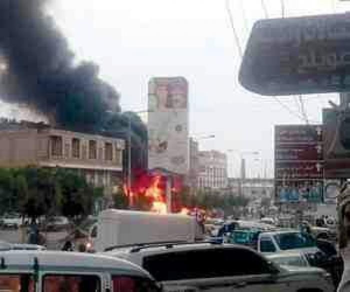 النار تلتهم الاسواق السوداء للنفط باليمن