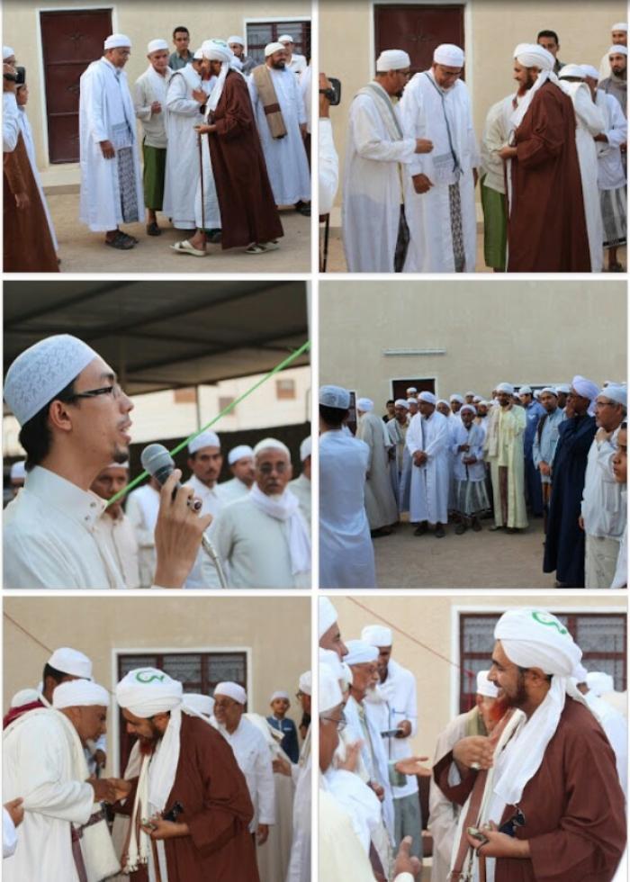 بحضور الحبيب العلامة عمر بن حفيظ أفتتاح خيمة البيت العتيق بمدينة سيئون