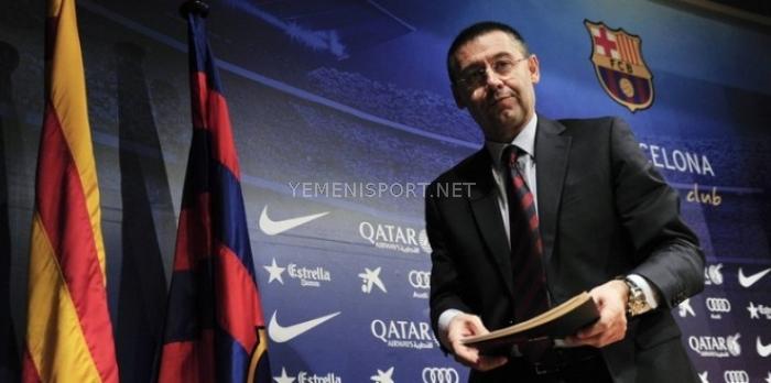 رئيس برشلونة يلعب بورقة ريال مدريد للإبقاء على شعار قطر