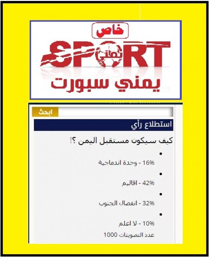 يمني سبورت .. التصويت بالأغلبية لـ خيار الأقاليم
